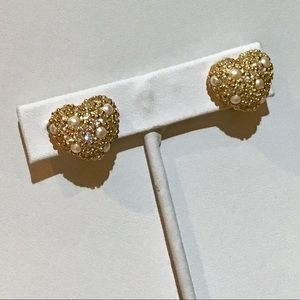 ❇️VTG Christian Dior Pave and Pearl Earrings